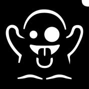 Glimmer Body Art Glimmer Tattoo Stencil - Emoji Ghost