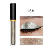 New Fashion Metallic Smoky Eyes Eyeshadow Waterproof Glitter Liquid Eyeliner & Eyeshadow Pen ,Nacome