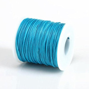 TURQUOISE 1MM Thailand Waxed Polyester Cord Macrame Bracelet Thread String - 100yds Spool