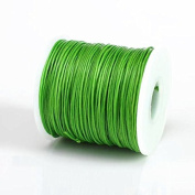 GREEN 1MM Thailand Waxed Polyester Cord Macrame Bracelet Thread String - 100yds Spool