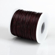 DARK BROWN 1MM Thailand Waxed Polyester Cord Macrame Bracelet Thread String - 100yds Spool
