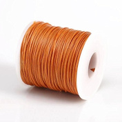 CARAMEL 1MM Thailand Waxed Polyester Cord Macrame Bracelet Thread String - 100yds Spool