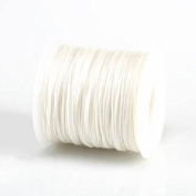 WHITE 1MM Thailand Waxed Polyester Cord Macrame Bracelet Thread String - 100yds Spool