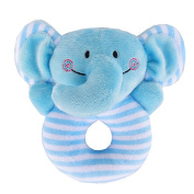 Gogoboi Fluff Animal Hand Rattle Toys for Baby 0-1 Years