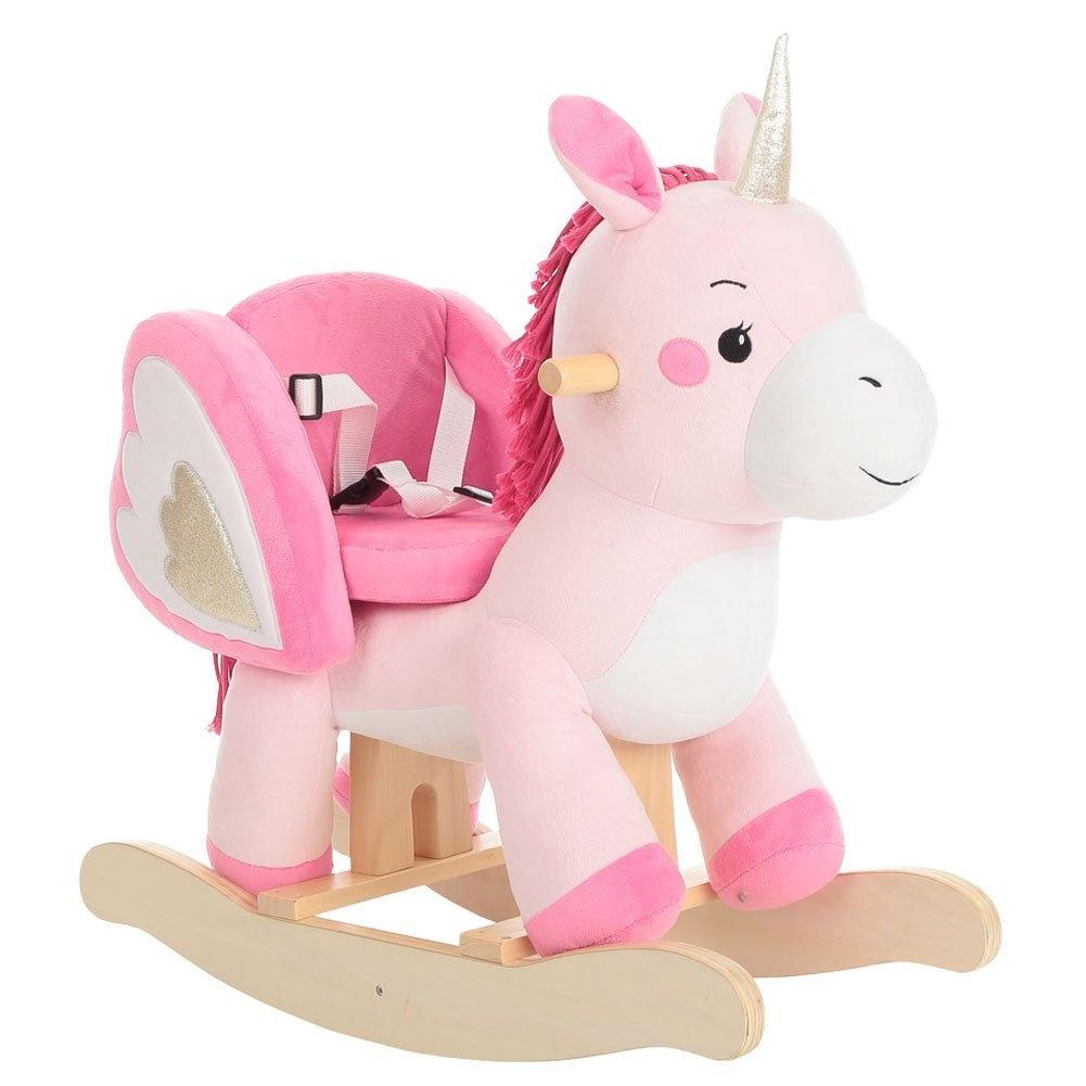 Labebe Child Rocking Horse Toy Pink Rocking Horse Plush Unicorn