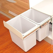 Environmental protection creative home embedded pull-type open-door cabinets trash can -36.5 * 48 * 36cm , size - double barrels