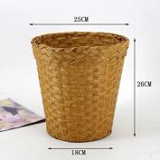 Fashionable straw baskets household living room bedroom office storage basket 18 * 26 * 25CM , log colour