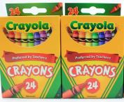 Crayola 24 Count Box of Crayons Non-Toxic Colour Colouring School Supplies