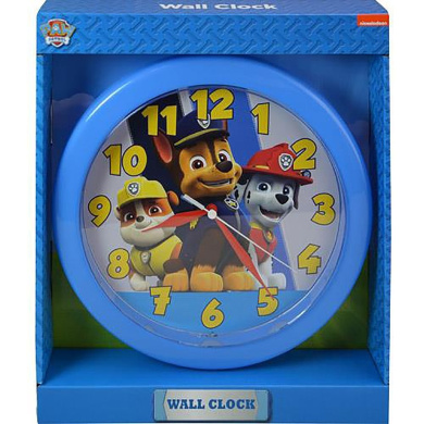 Paw Patrol 10 Round Wall Clock in Open Window Box.