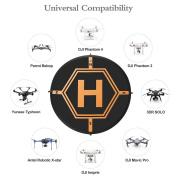 Drone Landing Pad Aurtec 80cm Portable 4 LED Lights Included Fast-Fold RC Quadcopter Helipad for DJI Mavic Pro, Phantom 2 3 4 Pro, Inspire 2 1, Spark, Yuneec, 3DR Solo, GoPro Karma, Parrot & More
