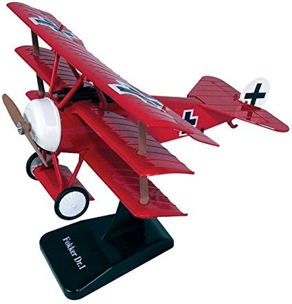 New NEW RAY CLASSIC WWI - RED SKY PILOT CLASSIC PLANES MODEL KIT - FOKKER  DR 1 Diecast Model By NEW RAY TOYS
