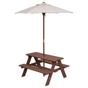 Costzon Kids Picnic Table & Bench Set, 4 Seat w/ Folding Umbrella