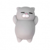 Lookatool Cute Mochi Squishy Cat Squeeze Healing Fun Kids Kawaii Toy Stress Reliever Decor, Grey