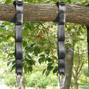 Tree Swing Straps Kit-Two 1.5m Adjustable (20loops total ) Straps Hold 910kg,And Two Heavy Duty Carabiners (Stainless Stell),Easy & Fast Swing Hanger Installation To Tree , 100% Non-Stretch.