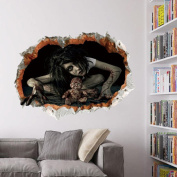 Leewa@ Happy Halloween Removable Wall Sticker Decoration for Bedroom/Living Room/Halloween Party