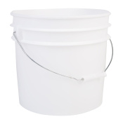 Hudson Exchange Premium HDPE Bucket with Handle, 90 Mil, 13.2l White