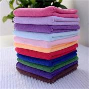 JiaUfmi 10 Pcs Microfibre Cleaning Cloth Towel for Car Polishing Duster and Kitchen Washing