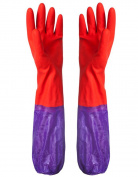 1Pair Long Sleeve Waterproof Household Rubber Gloves for Kitchen Dish Washing Laundry Cleaning