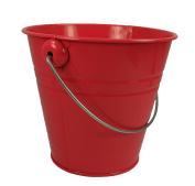 1 Metal Pail Buckets with Handle Party Favour 13cm - 1.3cm Tall