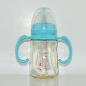 XW Baby Bottle Ppsu in the Calibre Handle Automatic Small Round Baby Bottle 240ml,Green,240ml
