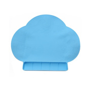 Kids Silicone Mat Portable Waterproof Silicone Antibacterial Mat for baby Feeding-baby Place Mat -Blue