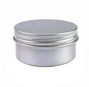 6PCS Silver Aluminium Sample Balm Nail Art Cosmetic Screw Cap Cream Jar Pot Tin Case Box Holder Bottle For Make Up Storage DIY Beauty