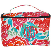 Personalised Floral Meadow Large Cosmetic Makeup Travel Bags