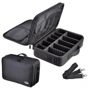 AW 33cm 1200D Oxford Makeup Train Case Artist Cosmetic Organiser Storage Bag Soft Protable Professional