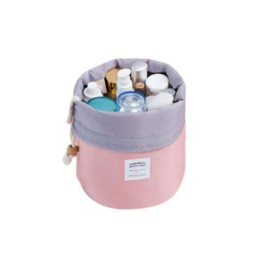 DEESEE(TM) Cosmetic Jewellery Wash Hanging Toiletry Makeup Travel Storage Bag Case (Pink)