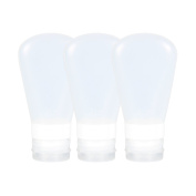 Fantcen Soft Silicone Travel Bottles Set Portable Containers with Carry Bag
