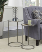 Convenience Concepts 227435S Gold Coast Accent End Table, Silver