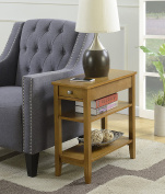 Convenience Concepts American Heritage 3 Tier End Table, Dark Walnut