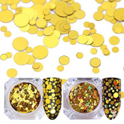 NICOLE DIARY 1.5g Holographic Nail Flakies Mixed Size Round Nail Sequins Glitter Paillette