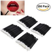 ETEREAUTY Lip Brush Disposable Lipstick Lip Gloss Wands Applicator Tool 200Pcs