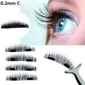 Ecosin Magnetic Post False Eyelash Ultra-thin 0.4mm Magnetic Eye Lashes 3D Reusable False Magnet Eyelashes
