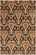 Transitional Dryden Collection Area Rug in Brown-Rust and Oval, Rectangle, Round, Runner Shape