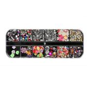 DDLBiz Nail Sequins Rhinestones Hollow Acrylic Nail Art Decoration Design Nail Stickers Set