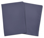 2 Steel Blue Toddler Pillowcases - Envelope Style - For Toddler and Travel Pillows Sized 13x18 and 14x19 - 100% Cotton With Percale Weave - Machine Washable - 2 Pack