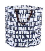 FUNNYGO Large Storage Bin ,Ramie Cotton/ Canvas Fabric Folding Storage Basket With Handles- Toy Box/ Toy Storage/ Toy Organiser for Boys and Girls - Laundry Basket/ Nursery Hamper