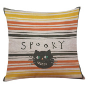 TOPUNDER Happy Halloween Linen Throw Pillow Case Cushion Cover Home Sofa Decor New