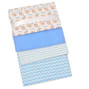 Zak and Zocy Baby Boys Blue Soft Cotton Receiving Blankets, 4 Pcs