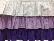 Bacati - Mix N Match Dots 3 Layer Ruffled Crib Skirt