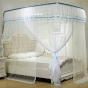 European U-type telescopic double bed mosquito nets mosquito breathable ( Colour : D , Size : 1.8m