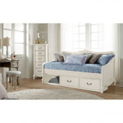 Hillsdale Kids and Teens 20040NS Kensington Elizabeth Daybed with Storage, Antique White