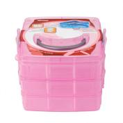 Sinfu 1PC 3-layers Clear Plastic Organiser Storage Box Cosmetic Jewellery Case