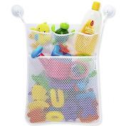 Sinfu Storage Baby Toy Mesh Storage Bag Bath Bathtub Doll Organise White