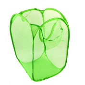 Sinfu Organiser Storage Foldable Pop Up Washing Laundry Basket Mesh Bag