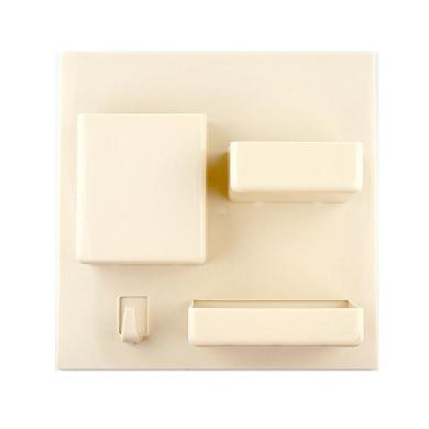 Sinfu Storage Bathroom Toothbrush Wall Mount Holder Organiser tool (Beige)