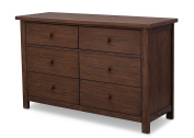 Serta Northbrook 6 Drawer Dresser, Rustic Oak