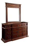 Granville Western 12 Drawer Tall Boy Dresser - Antique Cherry Wood